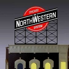 C&NW Chicago & Northwestern Animated Sign #44-0202 N Scale Miller Engineering