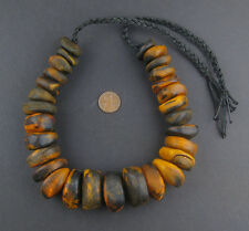 African Amber Color Moroccan Horn Beads Morocco