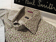 """PAUL SMITH Mens Shirt �� Size 15.5"""" (CHEST 42"""")�� RRP £95+��FLORAL LIBERTY STYLE"""