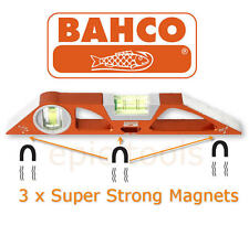 BAHCO 10in/25cm Scaffold Rare Earth Magnetic Torpedo Spirit Boat Level, 466-250