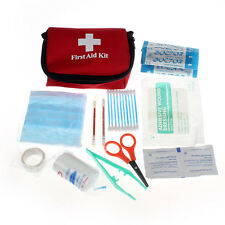 Red Emergency Survival First Aid Kit Pack Travel Medical Sports Home Bag HOT