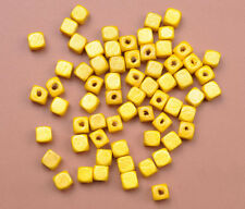 50pcs 200pcs Charms Square Cube Wood Spacer Beads Jewelry Making 6x6MM