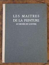 Livre - Les Maîtres de la peinture au musée du Louvre - Aulard