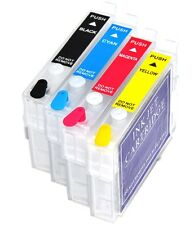 4 Refillable Ink Cartridges Epson Stylus S 22 S22 SX 125 130 SX125 SX130 Non OEM