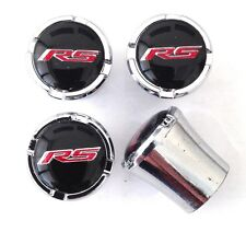Camaro RS Logo Tire Valve Stem Caps Black and Silver Set of 4 MADE IN USA