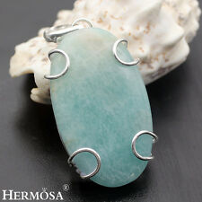 Thanksgiving Sale! 75% OFF 925 Sterling Silver AMAZONITE Necklace Pendant MK818