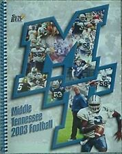 2003 MIDDLE TENNESSEE STATE BLUE RAIDERS FOOTBALL MEDIA GUIDE