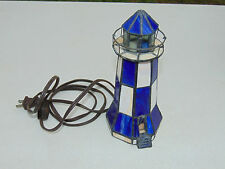 Beautiful Stained Glass Lighthouse Accent Lamp Shade Light Nautical Piece