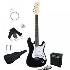 New Black Electric Guitar with Amp Case and Accessories Pack Beginner Start