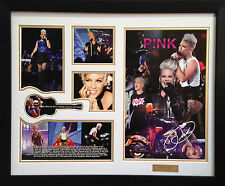 Pink Limited Edition Signature Framed Memorabilia Design #3 (w)