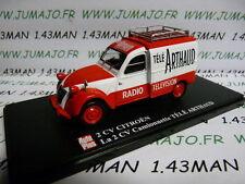 car 1/43 ELIGOR Autoplus CITROËn 2CV no.38 pickup truck Tv ARTHAUD collection
