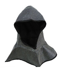 Medieval Crusader Knight Helmet Chainmail Coif Costume Hat