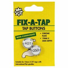 "Fix-A-Tap Tap Button Chrome Plated 19x5mm for ½"" taps with flat spindles"