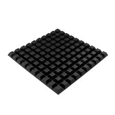 100x Square Rubber Feet Self-Adhesive Black Foot Strong Grip 12.7 x 6MM  RF02