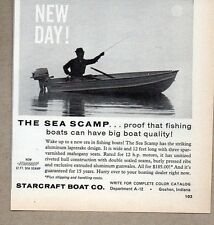 1960 Print Ad Starcraft Sea Scamp Aluminum Boats Goshen,IN