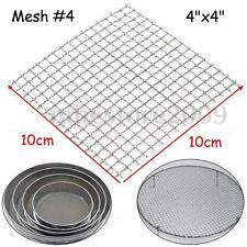 Stainless Steel 304 Mesh #4 .047 Wire Cloth Screen 4'' x 4'' NEW