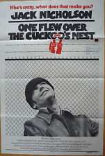 ONE FLEW OVER THE CUCKOO'S NEST -JACK NICHOLSON- ORIGINAL Aus 1SHT MOVIE POSTER