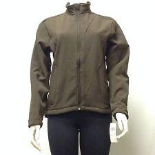 NWT Women's Jacket Fleece Lined Full Zipper Brown Medium M Only