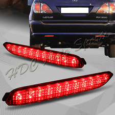 For Lexus IS-F GX470/RX300/RC250/350 Red Lens LED Rear Bumper Brake Light Lamps