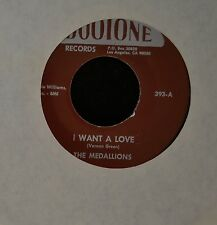 The Medallions Dootone 393 R&B REPRO I Want A Love and Dance And Swing