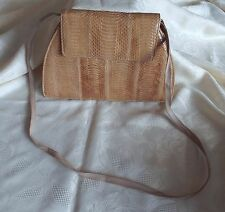 J Renee Vintage light tan snakeskin/reptile handbag
