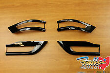 2014-2016 Jeep Grand Cherokee Gloss Black Tail Light Trim Bezel Kit Mopar OEM