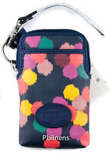 FOSSIL KEY PER OIL CLOTH DOT CARRY ALL BAG FITS IPHONE 4, 5 CREDIT CARD WRISTLET