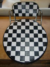 Black/White Check  Wheel Cover & Back Pad Cover  Vespa/ Lambretta