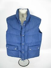 Vintage Rainier Sportswear Down Fill Puffer VEST Blue Men's Large L Great Shape!