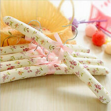 Hook Sponge Cotton Satin Padded Coat Clothes Suit Dress Hangers Rack 5pcs