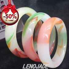 64mm Beautiful Tri-color Jade Jadeite Bangle Bracelet Handmade Gems Good Luck
