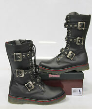 DEMONIA Black Boots DIS303 Vegan Leather Size 10M unisex
