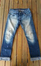 Nudie Limited LAB 12 Grim Tim 33/32 Selvage Japan Selvedge Denim Italy Made RAR