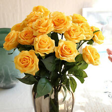 Artificial Individual Rose Flowers Wedding Party Bridal Bouquet Home Decorations