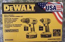 DeWalt DCK235C Drill / Driver Impact Driver Combo Kit 18V - New