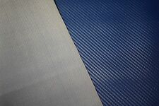 "Pacific Blue Carbon Fiber Faux Leather Fabric Vinyl Auto Upholstery 54"" Pleather"