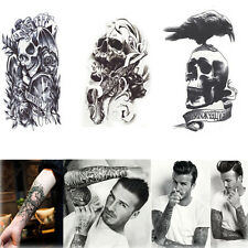 3 Sheet Temporary Removable Tattoo Waterproof Large Arm Body Art Tattoos Sticker