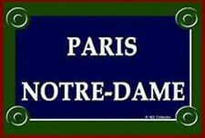 PLAQUE DE RUE METAL 20X15cm PARIS NOTRE DAME PARIS FRANCE