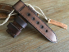 24mm .Handmade ,oiled ,calf leather watch strap .Panerai,AMMO ,vintage style.