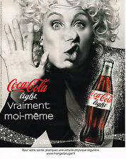 PUBLICITE ADVERTISING 094  2009  COCA- COLA LIGHT  soda