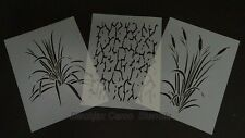 "Camo 3 pc Real Look Wetland Set 2 (3) 12""x9"" stencils. Camouflage"