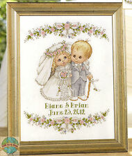 Cross Stitch Kit ~ Plaid-Bucilla Wedding Bells Ring Anniversary Record #45710