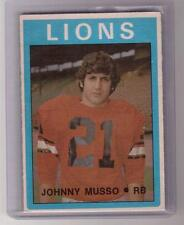 JOHNNY MUSSO 1972 72 OPC O-Pee-Chee #46 CFL BC Lions British Columbia Rookie