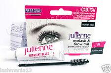 Julienne profesional tinte de pestañas y cejas cepillo de tinte Midnig Negro 15ml con