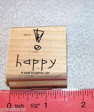 Stampin Up Happy Thoughts Stamp Single happy ! Nice size for Tags or Cards