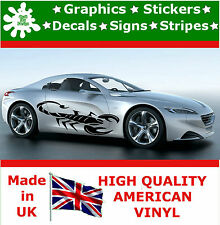 New Scorpions Stickers X 2 Large Side Car Vinyl Race JDM Car Decals Peugeot BMW