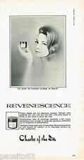 PUBLICITE ADVERTISING 055  1966  CHARLES OF THE RITZ cosmétiques REVENESCENCE