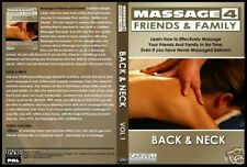 Massage Training DVD Course Back & Neck with Free Bonus Remove & Relieve Pain