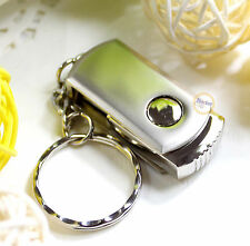 2GB Keychain Swivel Metal Memory Flash USB DRIVE Thumb Stick Pendrives Silver