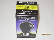 "Black Light Bulb ""ONE"" Glows Purple Spooky Halloween Mood Lighting Dance Party"